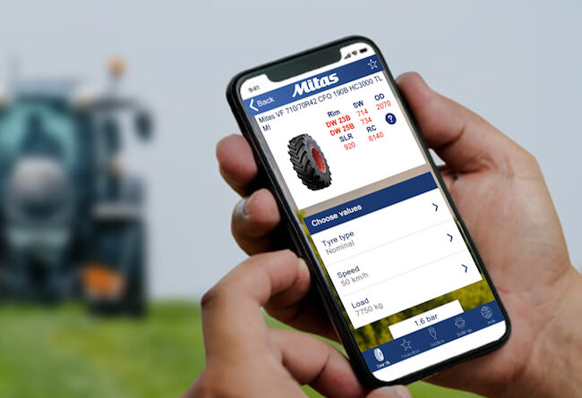 Mitas App upgrade allows farmers worldwide to determine the right tyre pressure in the field and on the road